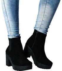botínes para mujer outfit casablanca 5 y medio plataforma negro