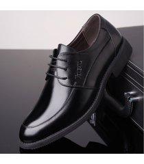 zapatos oxford de trabajo de negocios formales de cuero de pu para hombres