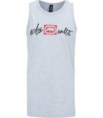 camiseta regata ecko estampada e744a - masculina - cinza claro