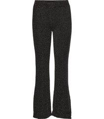 melanie, 772 glitter jersey broek met wijde pijpen zwart stine goya