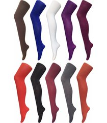 sock snob womens thick 80 denier colorful opaque winter fashion tights 12 colors