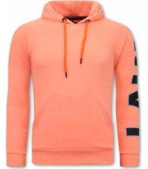 tony backer oversized hoodie orange