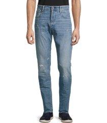g-star raw men's distressed slim-fit jeans - sun faded wash - size 32 32