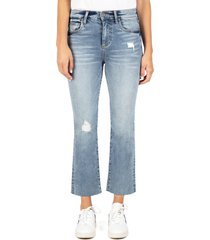 women's kut from the kloth kelsey distressed high waist kick flare jeans