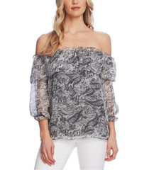 vince camuto petite off-the-shoulder top