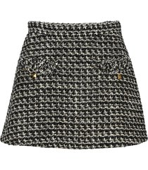 valentino sensation lurex tweed mini skirt