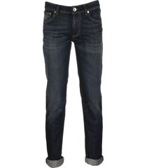 brunello cucinelli lightweight denim five-pocket traditional-fit trousers