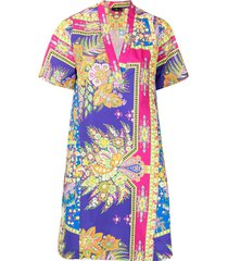 etro all-over floral dress - purple