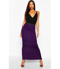 basic jersey maxi-rok met contrasterende taille, grape