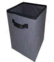 caixa organizadora de 28x30x28 cinza grafite com alça