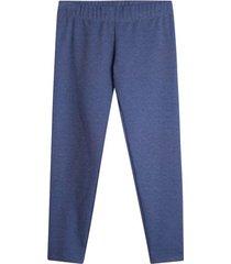 leggings alto jaspe color azul, talla 8