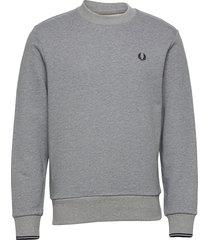 crew neck sweatshirt sweat-shirt tröja grå fred perry