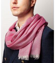 sciarpa da uomo, maalbi, seta cashmere rosa, quattro stagioni | lanieri