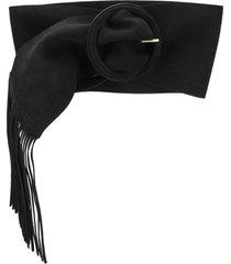philosophy di lorenzo serafini fringe detail belt - black