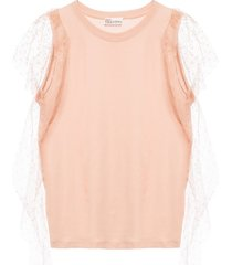 top with sheer ruffles