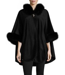 fox fur cashmere cape