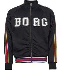 team borg track jacket sweat-shirt trui zwart björn borg