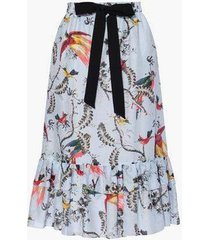 corsica skirt paisley parrot cotton silk voile