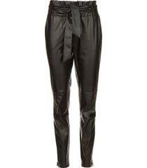 faux leather broek duncan  zwart