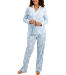 charter club soft brushed cotton pajama set, created for macy's