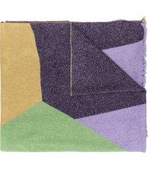 m missoni metallic-thread knit scarf - purple