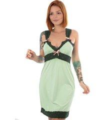 camisola thais gusmã£o vintage renda amor verde - verde - feminino - dafiti