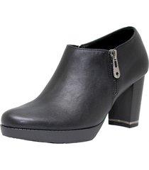 zapato negro ms abotinado cuero ecologico