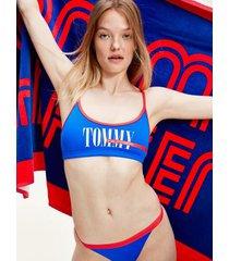 tommy hilfiger women's recycled tommy swim bikini bralette eletric blue - xl