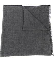brunello cucinelli chambray scarf - grey
