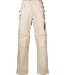 1017 alyx 9sm contrast stitch cargo trousers - neutrals
