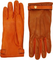 burberry two tone gloves - brown