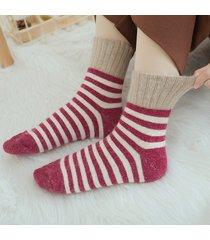donna addensare calze di lana semplici wild calze calze a mezza manica calde calze casual soft lana calze