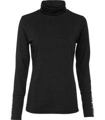 maglia a costine con bottoni (nero) - bodyflirt