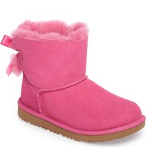 toddler girl's ugg mini bailey bow ii water resistant bootie, size 11 m - pink