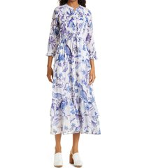 women's banjanan brenda tiered drawstring dress, size x-small - white