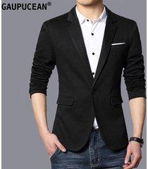traje de blazer casual gaupucean para hombre-negro