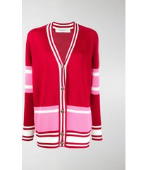 golden goose optimism-jacquard striped cardigan