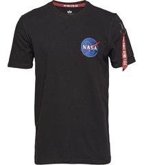 nasa heavy t t-shirts short-sleeved blå alpha industries