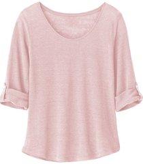 linnen shirt, roze 44