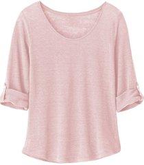 linnen shirt, mauve 36