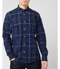 barbour men's sandwood shirt - inky blue - xl
