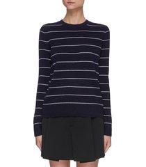 thin stripe wool cashmere blend sweater