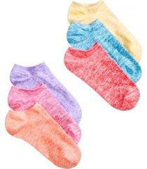 hue women's 6 pack marled no-show socks