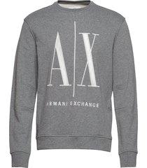 ax man sweatshirt sweat-shirt tröja grå armani exchange