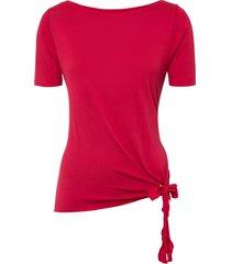 maglia in viscosa sostenibile con fiocco (rosso) - bodyflirt