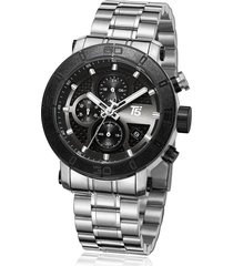 reloj de hombre t5 pulso acero h3635g-b - plateado/negro