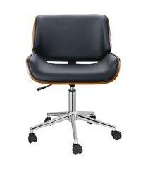 cadeira de escritório diretor giratória lauren preta
