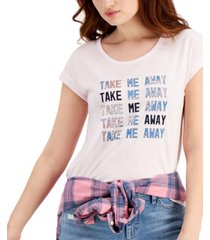 style & co graphic-print cuffed t-shirt, created for macy's