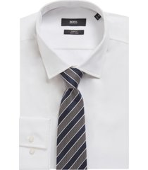 boss men's dark blue t-tie
