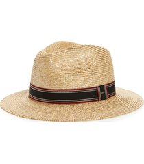 women's saint laurent paille chapeau straw fedora -